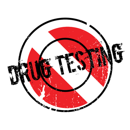 Drug Testing rubber stamp