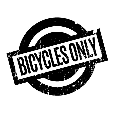 oneself: Bicycles Only rubber stamp
