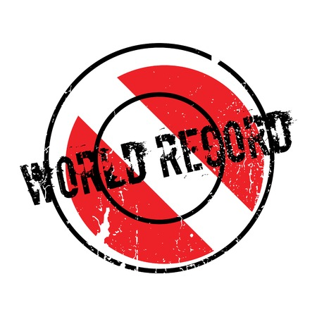 on top of the world: World Record rubber stamp