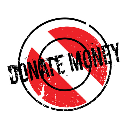 Donate Money rubber stamp