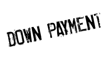 Down Payment rubber stamp Illustration
