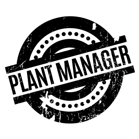 expenses: Plant Manager rubber stamp. Grunge design with dust scratches. Effects can be easily removed for a clean, crisp look. Color is easily changed.