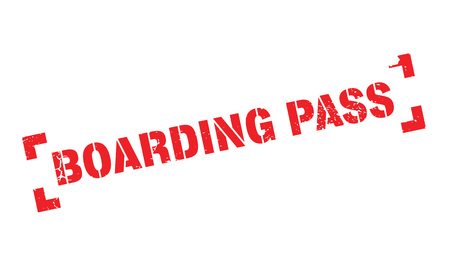 commercial painting: Boarding Pass rubber stamp Illustration