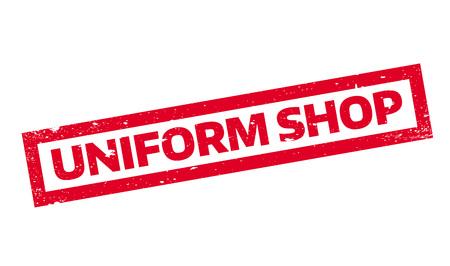 Uniform Shop rubber stamp Stock fotó - 81319806