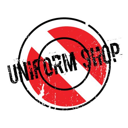 Uniform Shop rubber stamp Stock fotó - 81319819