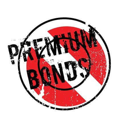 ganado: Sello de caucho Premium Bonds Foto de archivo