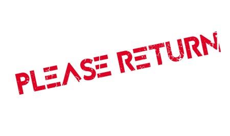 recompense: Please Return rubber stamp