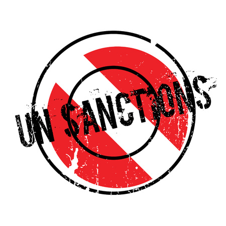 Un Sanctions rubber stamp Illustration