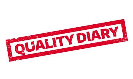 affirmation: Quality Diary rubber stamp