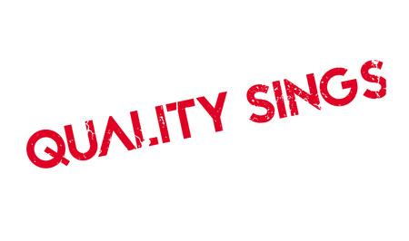 Timbre en caoutchouc de qualité chante Banque d'images - 81320121