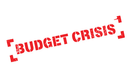 Budget Crisis rubber stamp
