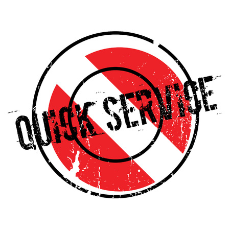 Quick Service rubber stamp Illustration