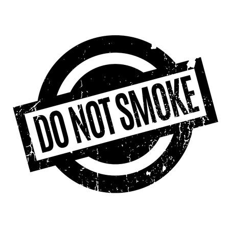 Niet rook rubberen stempel Stock Illustratie