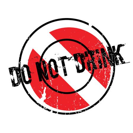 No beba el sello de goma