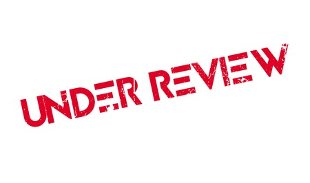 reviewed: Under Review rubber stamp Illustration