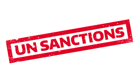 Un Sanctions rubber stamp Ilustrace