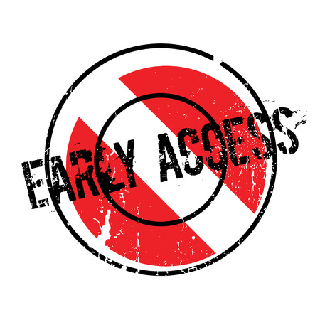 Early Access rubber stamp Illustration