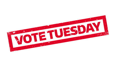 Vote Tuesday rubber stamp Illustration