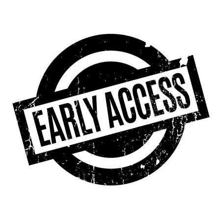 Early Access rubber stamp Ilustração