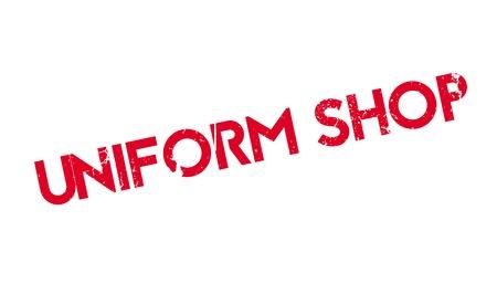 Uniform Shop rubber stamp Stock fotó - 81320503