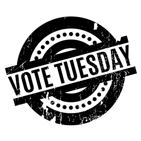 yea: Vote Tuesday rubber stamp Illustration