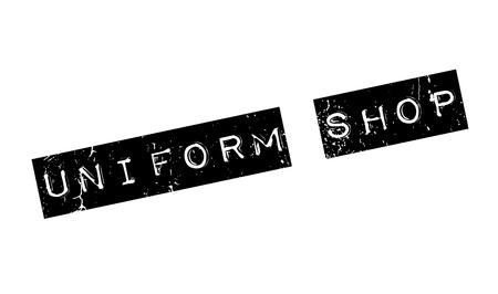 Uniform Shop rubber stamp Stock fotó - 81320683