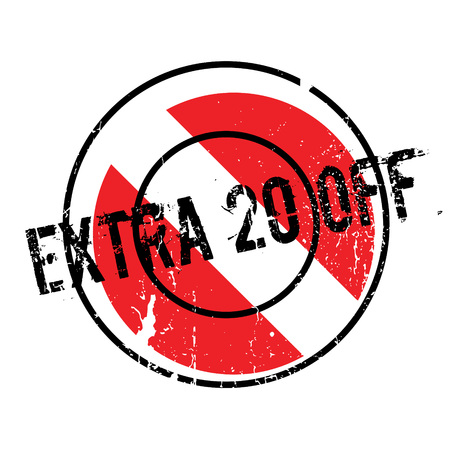 liberal: Extra 20 Off rubber stamp Illustration