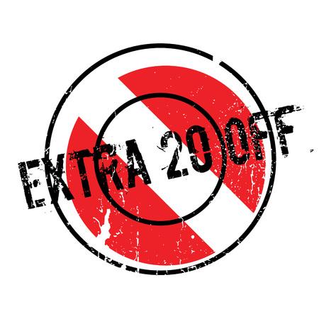 Extra 20 Off rubber stamp Illustration