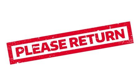 Please Return rubber stamp