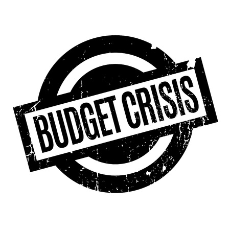 crunches: Budget Crisis rubber stamp Illustration