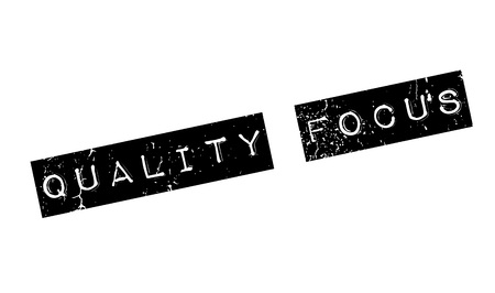 Quality Focus rubber stamp