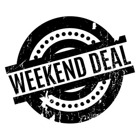 Weekend Deal rubber stamp Illustration