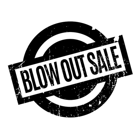 unloading: Blow Out Sale rubber stamp