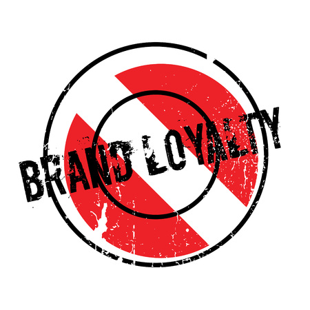 Brand Loyalty rubber stamp Illustration