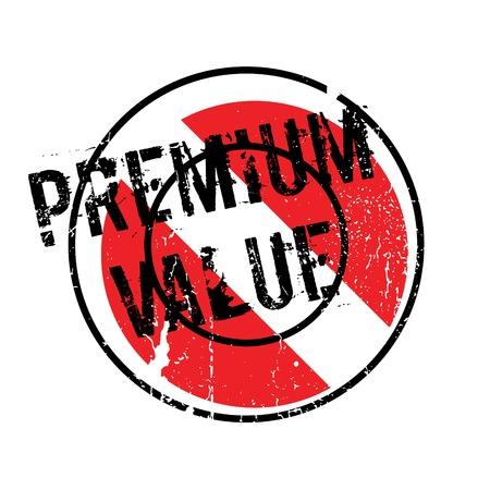 Premium Value rubber stamp 向量圖像