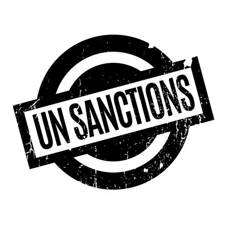 Un Sanctions rubber stamp Illustration