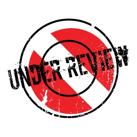uni: Under Review rubber stamp Illustration