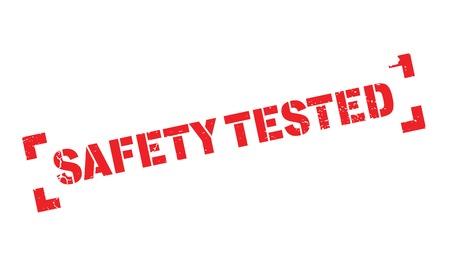 Safety Tested rubber stamp Illustration