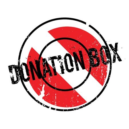 Donatiebox rubberstempel