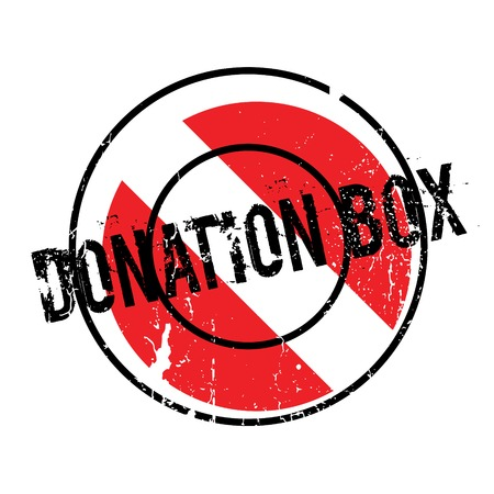 Donation Box rubber stamp Illustration