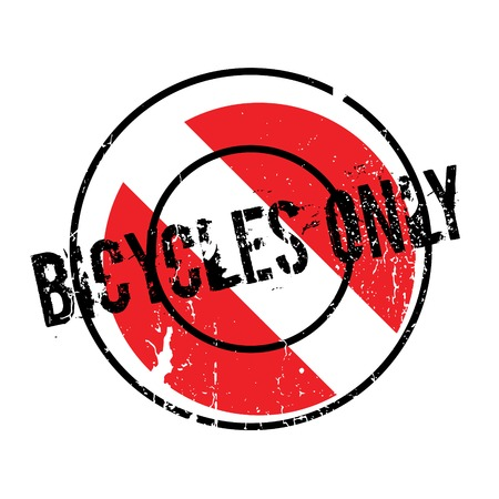 Bicycles Only rubber stamp
