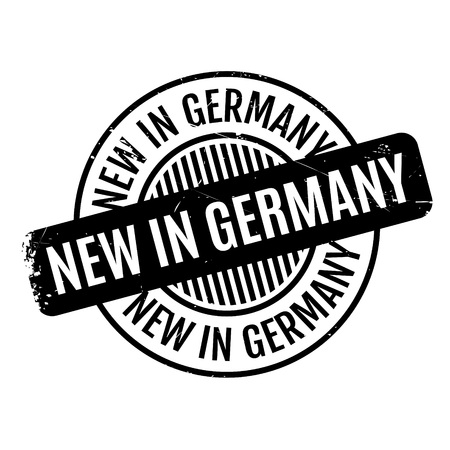 New In Germany rubber stamp. Grunge design with dust scratches. Effects can be easily removed for a clean, crisp look. Color is easily changed.