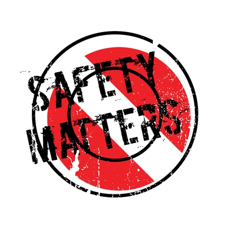 matters: Safety Matters rubber stamp