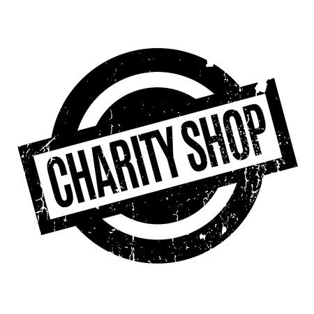 Charity Shop rubber stamp Illustration