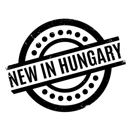 New In Hungary rubber stamp