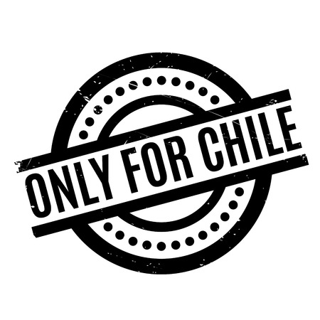 purely: Only For Chile rubber stamp