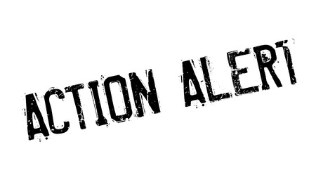 Action Alert rubber stamp