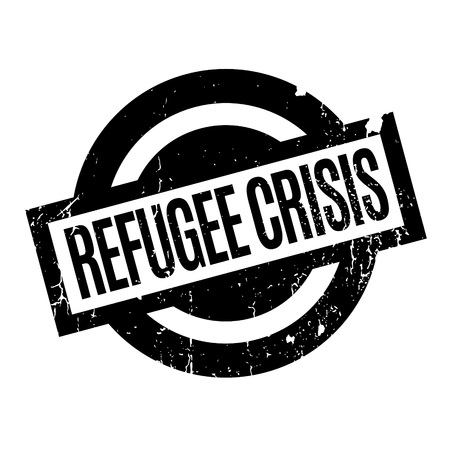 Refugee Crisis rubber stamp