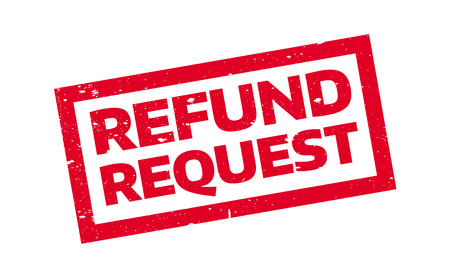 Refund Request rubber stamp