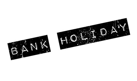 Bank Holiday rubber stamp